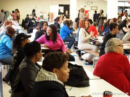 black womens expo large crowd
